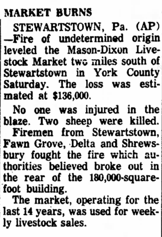 Livestock auction burns down- Feb  9, 1964 - Newspapers com