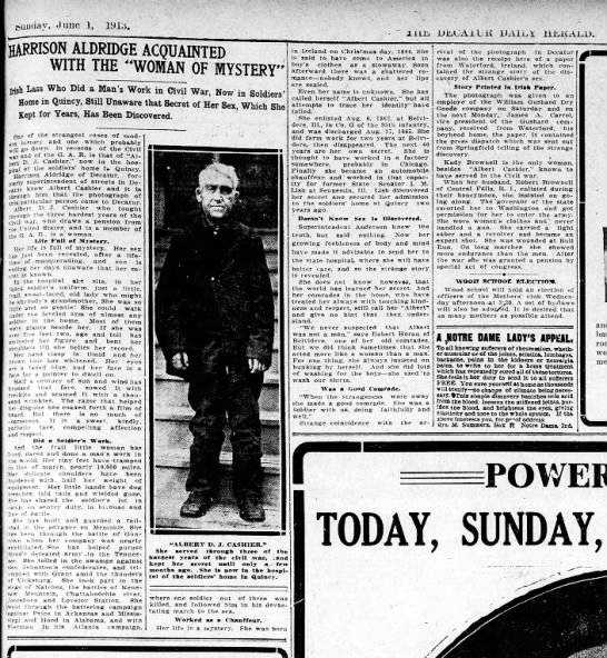 Decatur Herald newspaper with photo of Al -