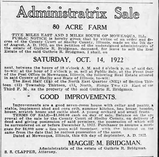 Guthrie Bridgman estate sale -