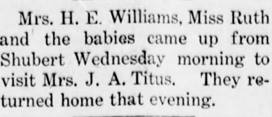 H.E. Williams of Shubert? -