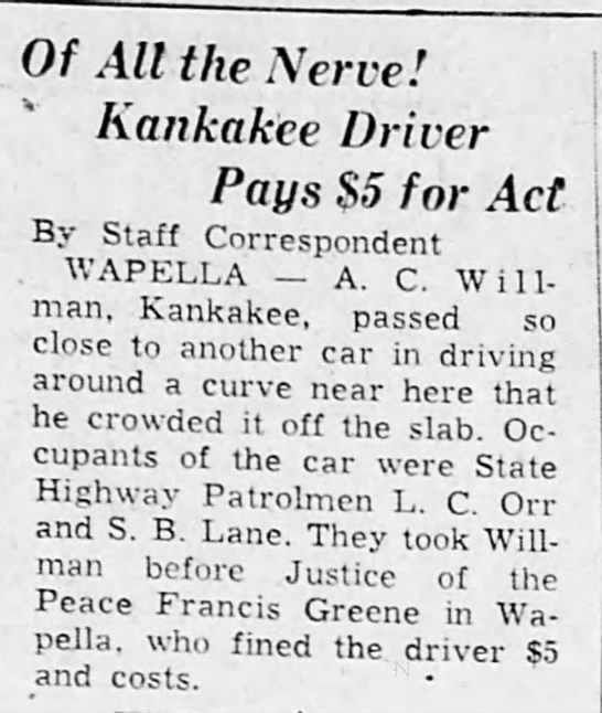 Francis Greene, Justice of the Peace 1938 -