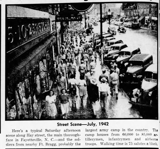 - Street Seen July, 1942 Here's a typical...