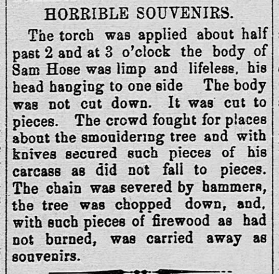 lynching souvenirs - Newspapers.com