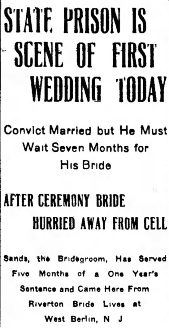Convict Marries While in Prison -