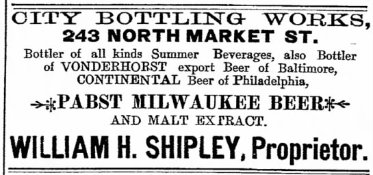 William H Shipley classified ad-The News Thursday 18 Mar 1897 -
