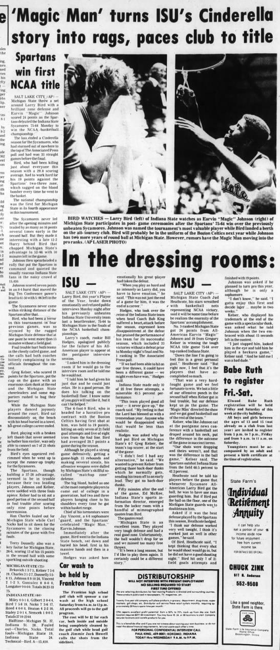 1979 NCAA men's basketball championship -