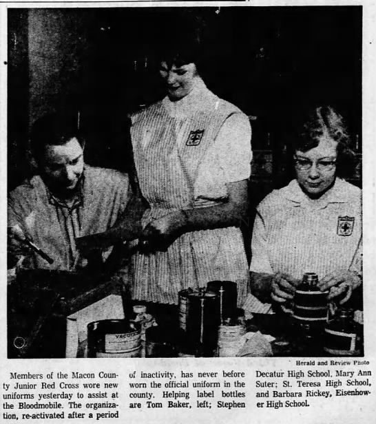 March 18, 1960 Decatur Herald Barbara Rickey -