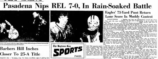 The Baytown Sun (Baytown, Texas) 10 Nov 1968, Pasadena Football, Glenn Bondy (Page 10) -