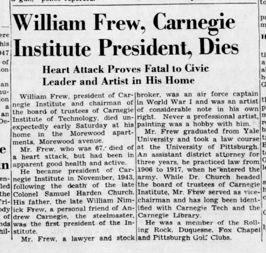 Frew William - DSB Trustee - obit Pgh PG 31 Jan 1948 p1 -