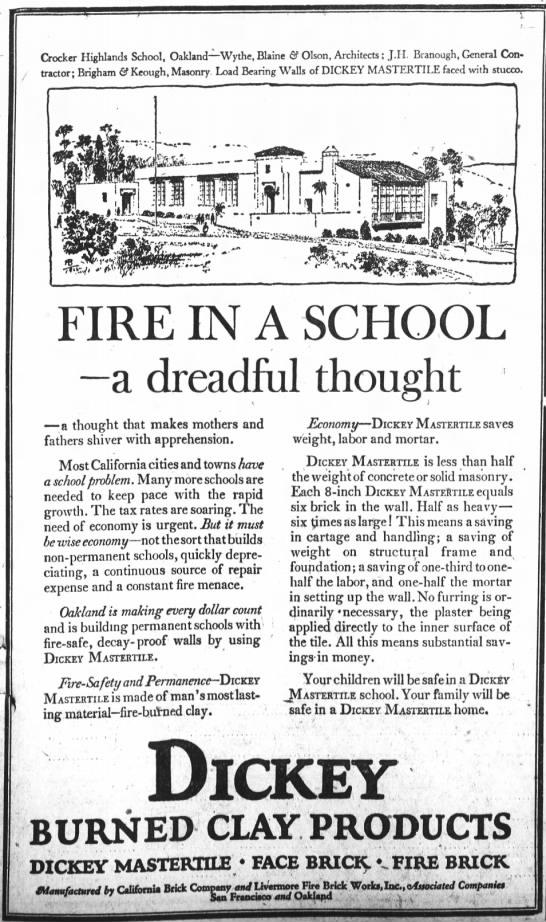 Crocker Highlands DickeyMastertile Jun 14,1925 -