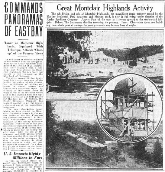 Montclair Observation Tower -