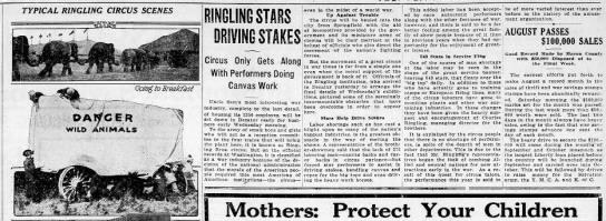 Ringling Bros. Sept. 1918 -