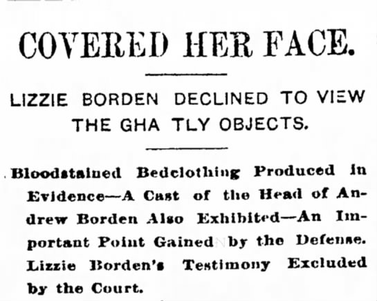 Lizzie Borden Trial Continues -