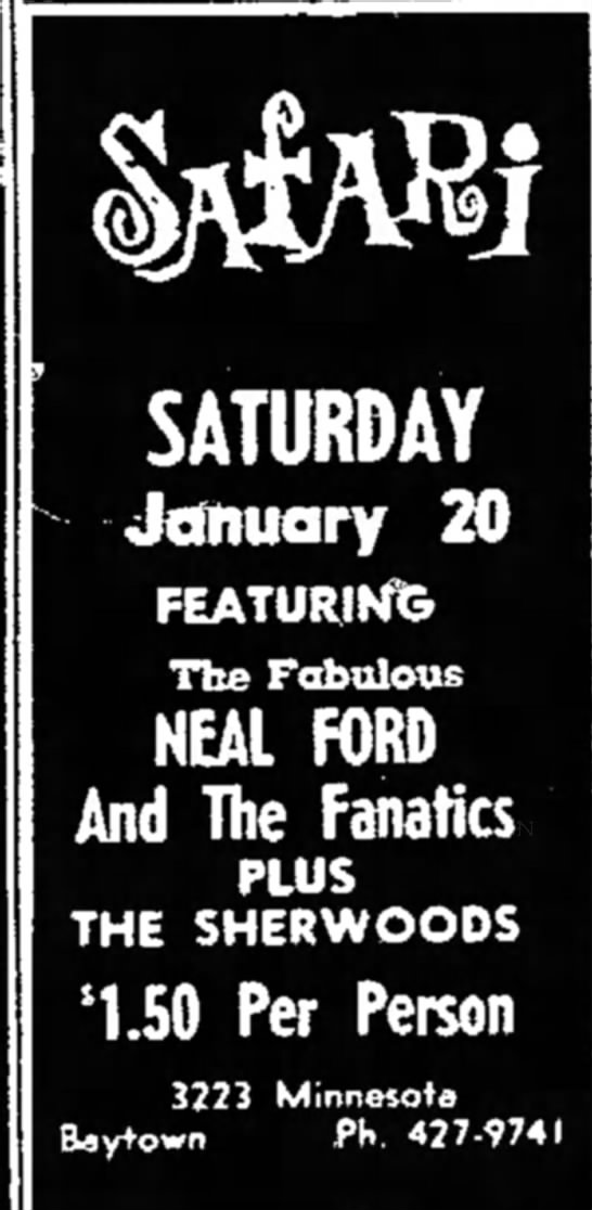 - SATURDAY January 20 FEATURING The Fabulous NEAL...