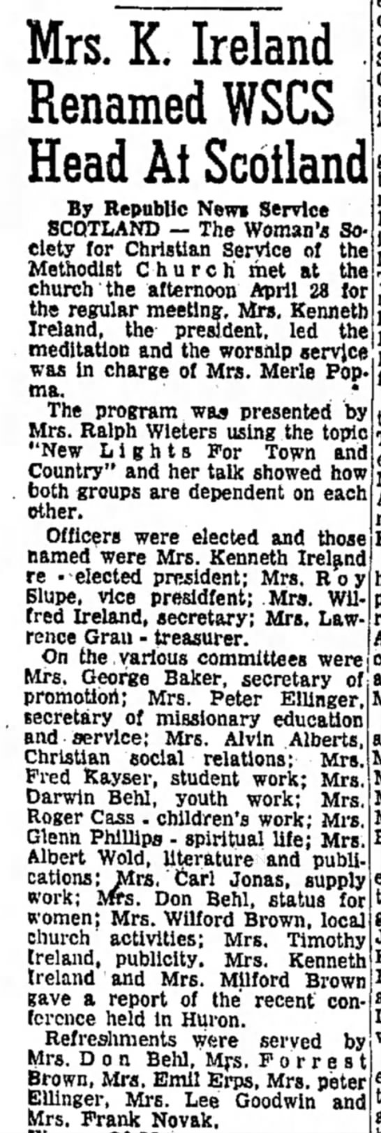 The Daily Republic (Mitchell, SD) 6 May 1960 p. 6 -