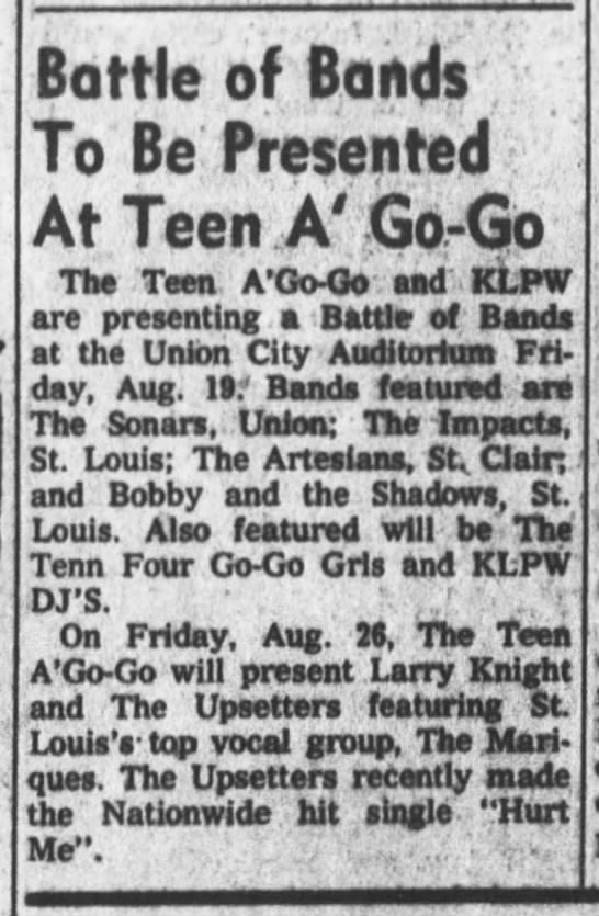 Fuzzy Knight Upsetters St Louis 3 Aug 1966 -