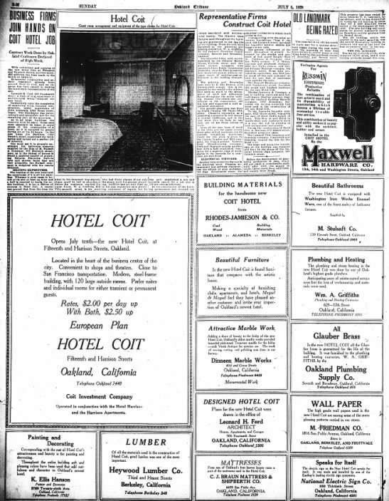 Hotel Coit advertotial -