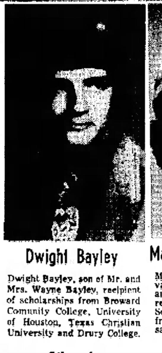 Dwight Bayley son of Wayne -