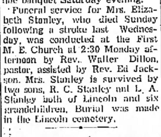 Elizabeth Stanley -