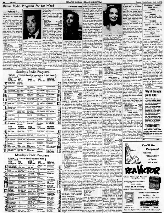 Decatur Daily Review April 13, 1952 -