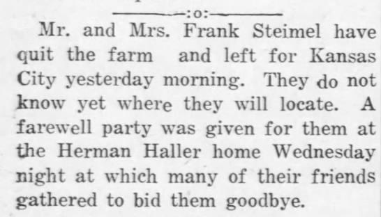 March 22, 1918 Alma Enterprise Frank and Hazel -
