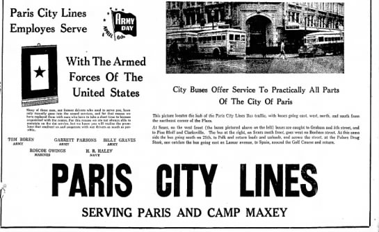 Paris News 04 Apr 1943 - Paris City Lines Employes Serve * * With The...