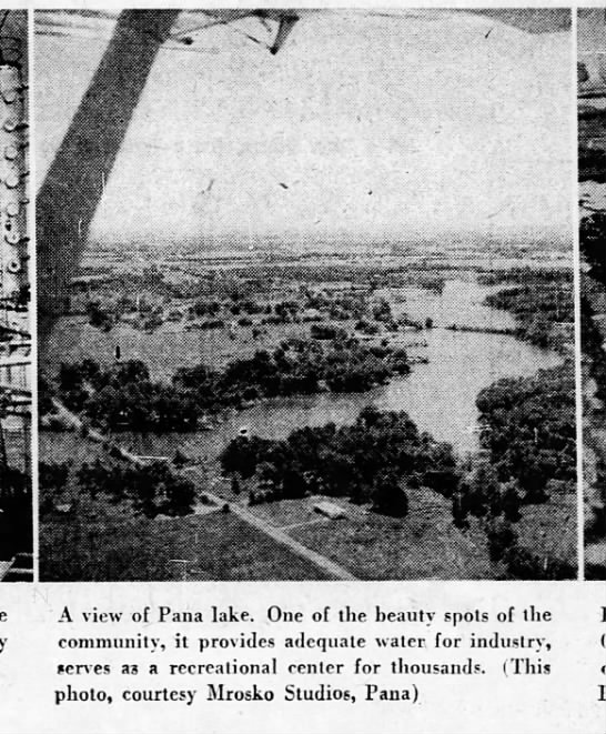 Decatur Daily Review 31 Jan 1960 page 78 Promoting Pana - Lake -