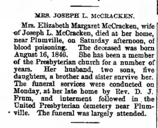 Obituary - McCracken, Elizabeth -