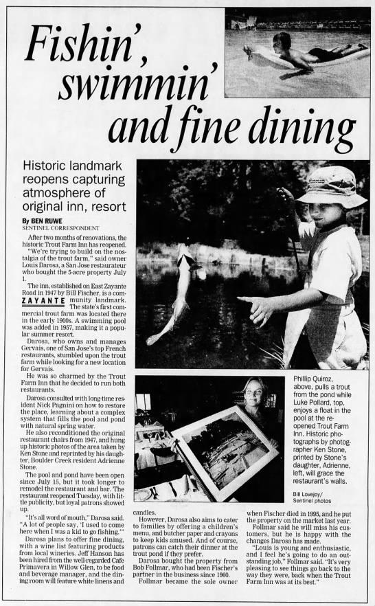 Trout Farm Reopens 11 Aug 2000 -