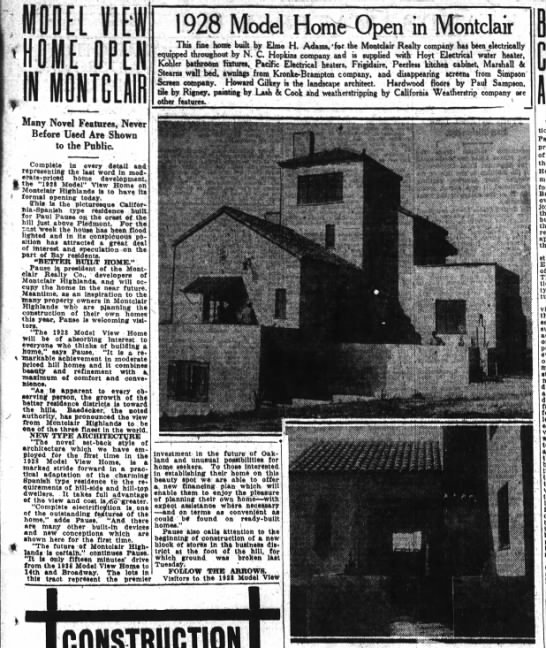 1928 Model View Home  - 25 Mar 1928 -