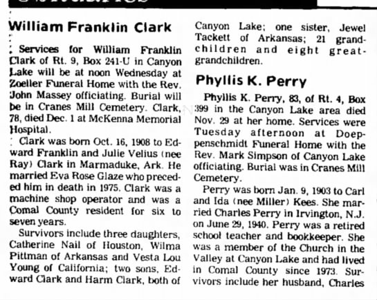 Wm Franklin Clark -