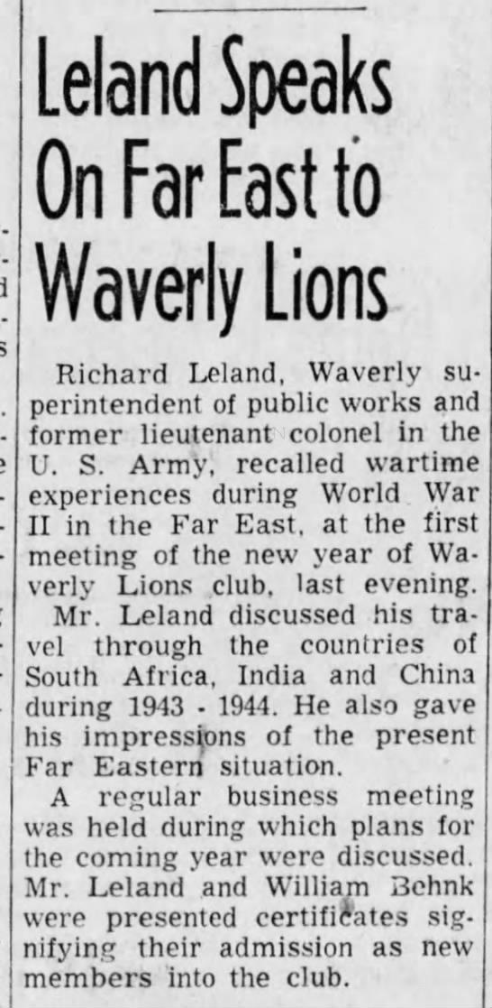 Dad, Lions Club Speech 7 Jan 1853 - Newspapers com