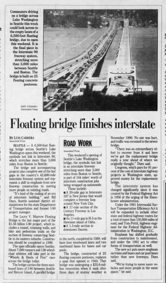 Floating bridge finishes interstate -