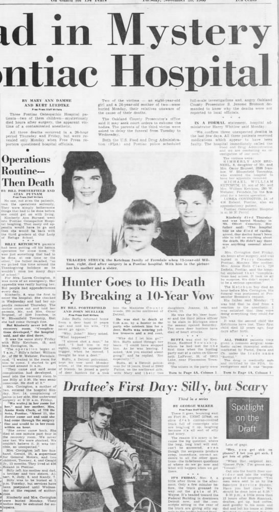 3 Dead in Mystery At Pontiac Hospital -