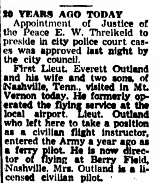 Mt. Vernon Register News July 17, 1964 - 20 years ago today July 17, 1944 -