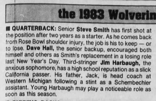 the 1983 Wolverines -