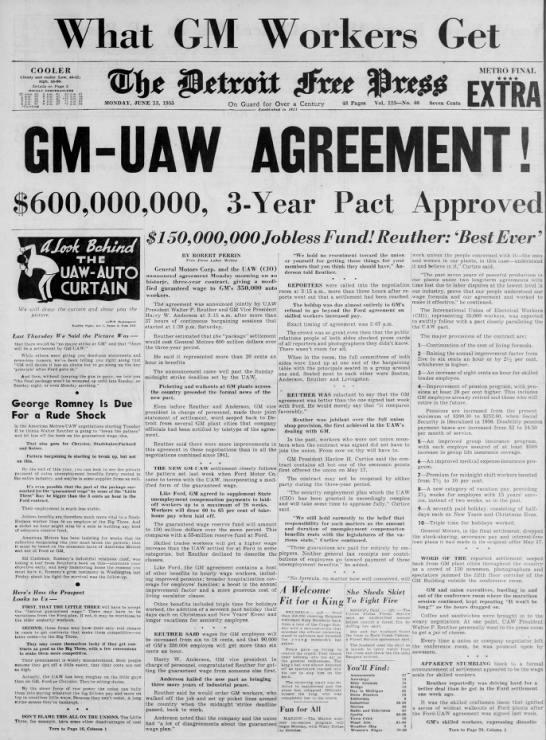 GM-UAW Agreement! -