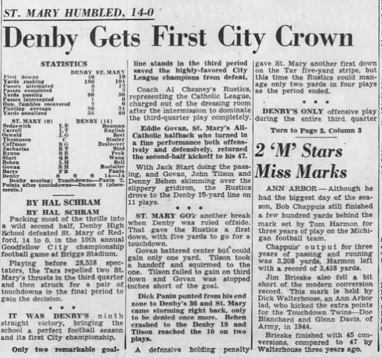 Denby Gets First City Crown -