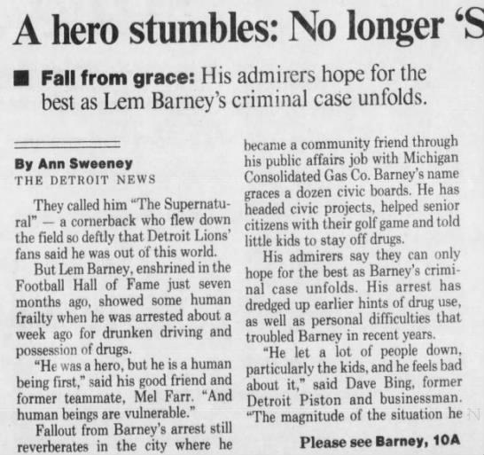 A hero stumbles -