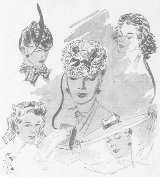 Fascinators (before they were called fascinators) -