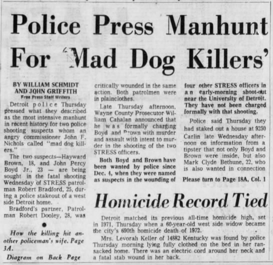 Hayward Brown Police Press Manhunt for 'Mad Dog Killers' (1/2) -