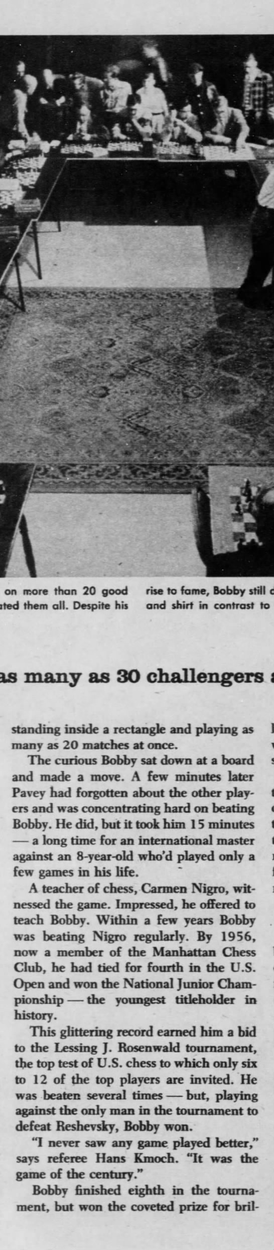 Only 14, he's a chess whiz (Column 5) -