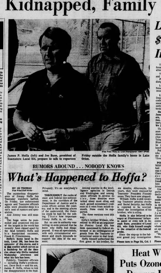 Hoffa Kidnapping - My first story -