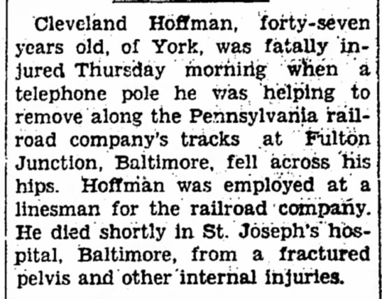 Cleveland Hoffman RR accident -