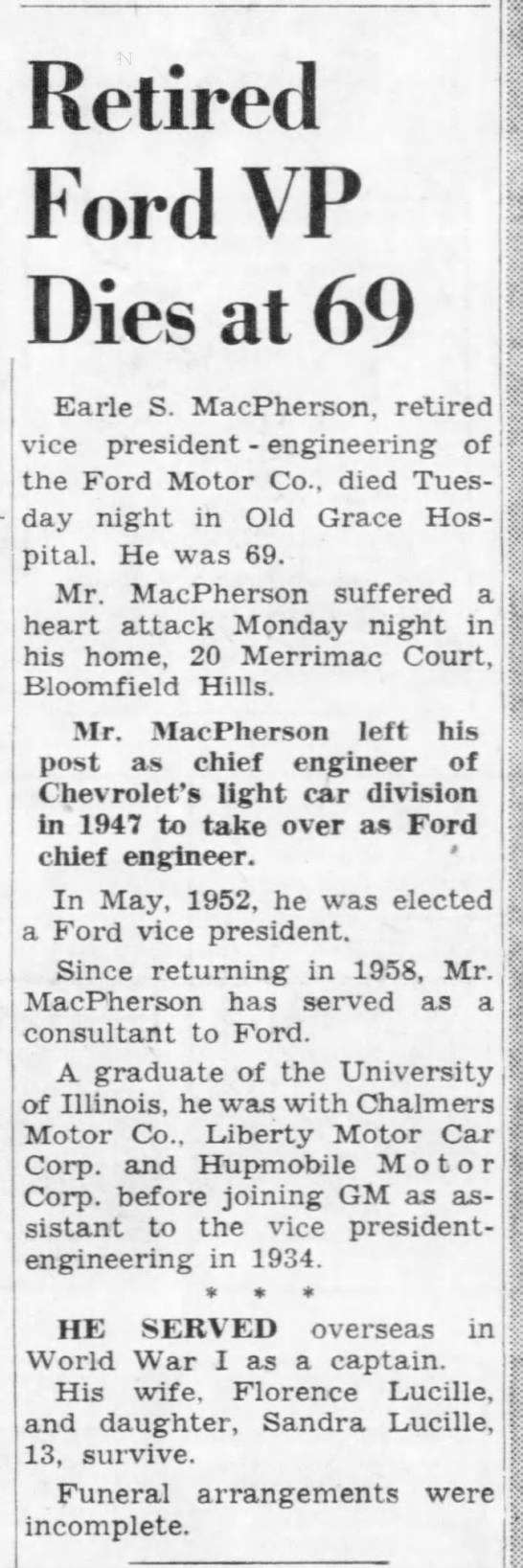 Retired Ford VP Dies at 69 -