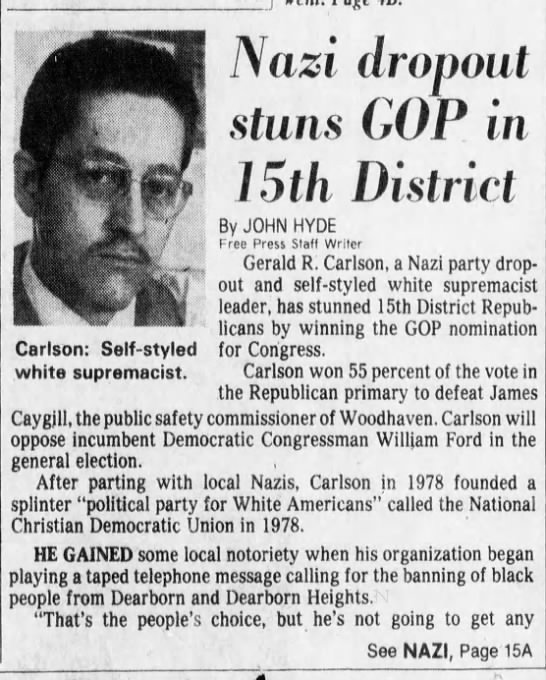 Nazi dropout stuns GOP in 15th District -