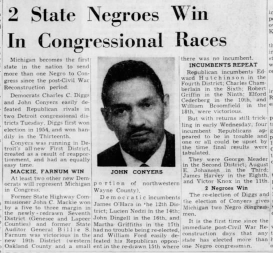 2 State Negroes Win In Congressional Races -