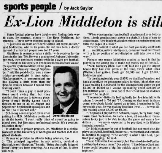 Ex-Lion Middleton is still hitting those books -