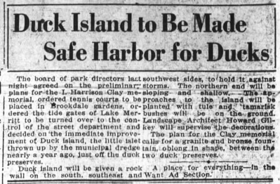 Duck Island to be Safe Harbor -