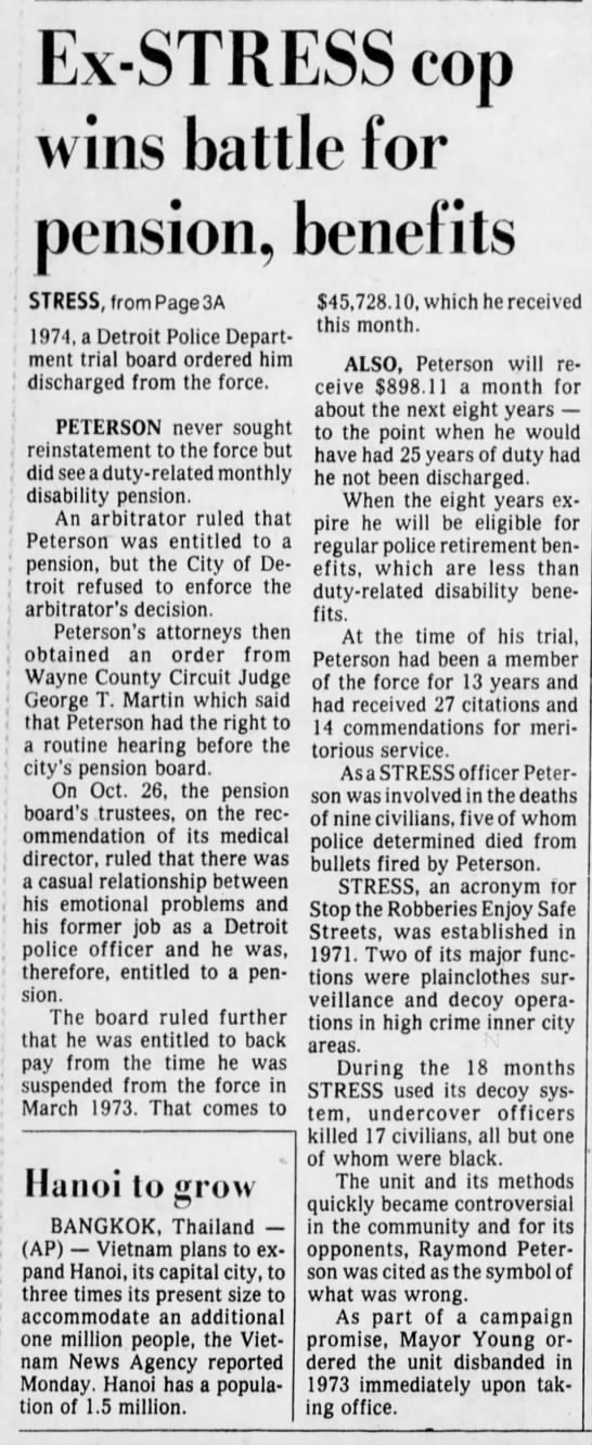 Raymond Peterson STRESS cop wins his pension (2/2) -